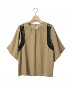 N°21(ヌメロヴェントゥーノ)の古着「ポルカレースブラウス」|ベージュ