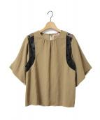 N°21(ヌメロ ヴェントゥーノ)の古着「ポルカレースブラウス」|ベージュ