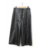 FLORENT(フローレント)の古着「フェイクレザーパンツ」|ブラック