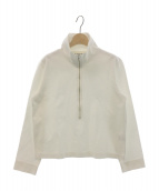 THE SHINZONE(ザ シンゾーン)の古着「ハーフジップカットソー」|ホワイト