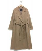 allureville(アルアバイル)の古着「カシミヤビーバーコート」|キャメル
