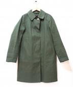 MACKINTOSH(マッキントッシュ)の古着「ゴム引きステンカラーコート」|オリーブ