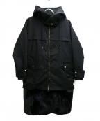 ara ara(アラアラ)の古着「ファーコンビネーションコート」 ブラック