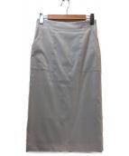 DES PRES(デ・プレ)の古着「ミディIラインスカート」|グレー