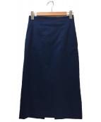 DES PRES(デ・プレ)の古着「ミディIラインスカート」|ネイビー