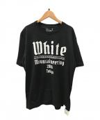 WHITE MOUNTAINEERING(ホワイトマウンテ二アニング)の古着「プリンテッドTシャツ」|ブラック