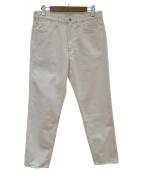 LIVING CONCEPT(リビングコンセプト)の古着「デニムパンツ」|ホワイト