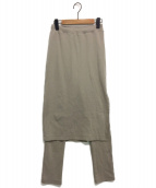 FRAMeWORK(フレームワーク)の古着「スーパーベアテレコレギンス付きスカート」|ベージュ