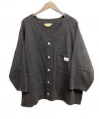 penneys(ペニーズ)の古着「ビッグシルエットノーカラーカバーオール」|ブラック