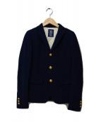 Deuxieme Classe(ドゥーズィエムクラス)の古着「ラッチニット チビ紺ブレザー」|ネイビー