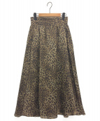 JOURNAL STANDARD(ジャーナルスタンダード)の古着「レオパードプリントスカート」|ブラウン
