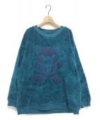 Hysteric Glamour(ヒステリックグラマー)の古着「BEAR刺繍オーバーサイズスウェット」|ブルー