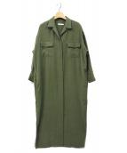 Plage(プラージュ)の古着「サファリシャツドレス」|オリーブ
