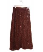 ROSSO(ロッソ)の古着「フラワーレースモールスカート」|ボルドー