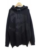 GROUND Y(グラウンドワイ)の古着「ロゴグラフィックフーディ」|ブラック