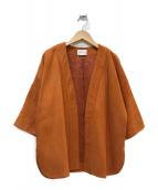 UNITED ARROWS TOKYO(ユナイティッドアローズトウキョウ)の古着「ヌバックノーカラーシャツジャケット」|オレンジ