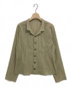 JURGEN LEHL(ヨーガンレール)の古着「ストライプシャツ」 ベージュ