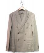 TAGLIATORE(タリアトーレ)の古着「リネン混ジャケット」|ベージュ