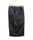Deuxieme Classe(ドゥーズィエムクラス)の古着「crease finish スカート」 ネイビー