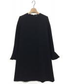 YOKO CHAN(ヨーコチャン)の古着「バックパールフレアスリーブドレス」|ブラック