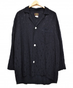 Sunny Sports(サニースポーツ)の古着「レーヨンオープンカラーシャツ」 ネイビー