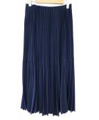 ASTRAET(アストラット)の古着「ロングプリーツスカート」|ネイビー