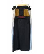 NON TOKYO(ノントーキョー)の古着「ギミックマウンテンスカート」|ブラック