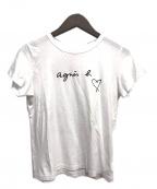 agnes b.(アニエスベー)の古着「ロゴプリントTシャツ」 ホワイト