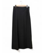 yohji yamamoto+Noir(ヨウジヤマモトプリュスノアール)の古着「[OLD]ウール×モヘアマキシスカート」|ブラック