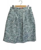 MAX MARA STUDIO(マックスマーラ ストゥディオ)の古着「フラワージャガードスカート」|サックスブルー