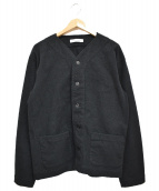 UNITED ARROWS(ユナイテッドアローズ)の古着「ノーカラージャケット」|ブラック