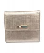 LANVIN(ランバン)の古着「3つ折り財布」 ピンク×シルバー
