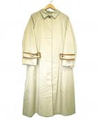 EMMEL REFINES(エメル リファインズ)の古着「ステンカラーパイピングテントコート」|ベージュ