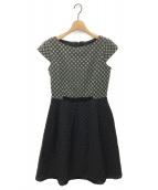 TOCCA(トッカ)の古着「CRYSTALドレス」|チャコールグレー