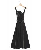 Ameri VINTAGE(アメリビンテージ)の古着「RIDERS SALOPETTE」 ブラック