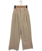 AMERI(アメリ)の古着「LITTLE LINEN PANTS」|ベージュ