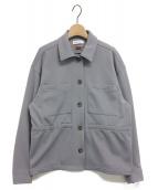 MAISON SPECIAL(メゾンスペシャル)の古着「ドロストジャージージャケット」|ラベンダー