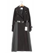 Ameri VINTAGE(アメリビンテージ)の古着「RIDERS DETAIL COAT」 ブラック