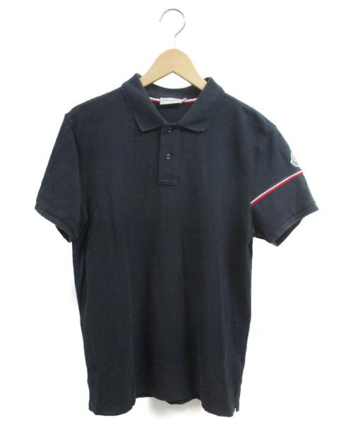 MONCLER(モンクレール)MONCLER (モンクレール) ポロシャツ ネイビー サイズ:Lの古着・服飾アイテム