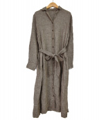 nest robe(ネストローブ)の古着「羽織リネンガウンワンピース」|グレー