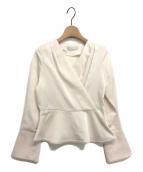 CELFORD(セルフォード)の古着「カシュクールペプラムブラウス」|オフホワイト