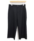 Yohji Yamamoto(ヨウジ ヤマモト)の古着「ウールパンツ」|ブラック