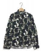 BLACK COMME des GARCONS(ブラックコムデギャルソン)の古着「カモフラージュシャツ」|ブラック