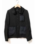 tricot COMME des GARCONS(トリコ コムデギャルソン)の古着「デザインポケットキュプラジャケット」 ブラック