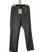 GRAMICCI(グラミチ)の古着「BEAMS別注フリースナロー クライミングパンツ」 グレー