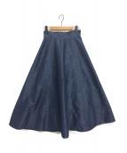 SHE TOKYO(シートーキョー)の古着「デニムフレアスカート」|インディゴ
