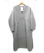 ELENDEEK(エレンディーク)の古着「V LONG BEAVER COAT Vロングビーバーコート」|グレー