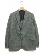 Drawer(ドゥロワー)の古着「チェックテーラードジャケット」 グレー