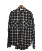 RHUDE(ルード)の古着「ネルシャツ」|ベージュ