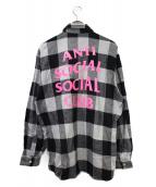 ANTI SOCIAL SOCIAL CLUB(アンチソーシャルソーシャルクラブ)の古着「チェックネルシャツ」|ブラック
